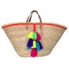 wicker basket with leather handles french baskets wholesale moroccan basket wicker market basket