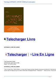 livre cuisine pdf télécharger astrance livre de cuisine pdf ebook gratuit