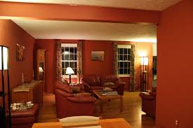 green wall office room living room with warm paint color house