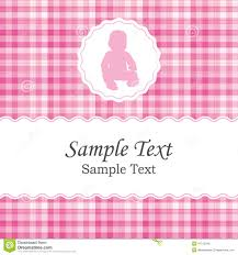 Invitation Card For Baby Birth Announcement Or Baby Shower Invitation Card For A Newborn