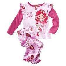 strawberry shortcake toddler 2pc pajamas size 2t