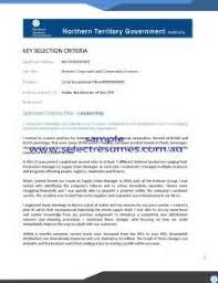 cover letter addressing selection criteria sample selection