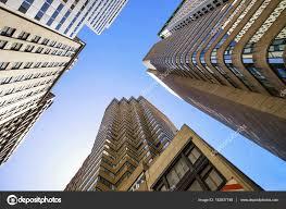 imagenes de bottom up abajo vista de rascacielos de cristal en nueva york en estados