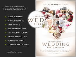 wedding phlet template wedding flyer template wedding photographer flyer template