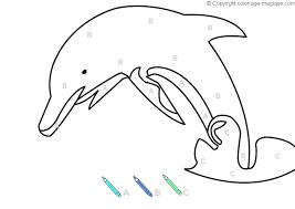 Coloriage educatif  Coloriages magiques alphabetLa dauphin