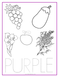 purple color activity sheet colors pinterest color