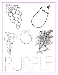 purple color activity sheet colors color