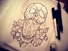 smoke tattoo flowers skull leaves candle tattoo design leaf