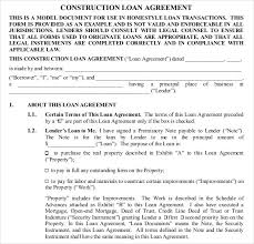 construction agreement template standard construction contract