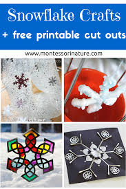 snowflake crafts for kids and free printable cut outs montessori