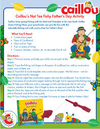 caillou birthday invitations caillou father u0027s day activity u2013 fishing rod caillou activities