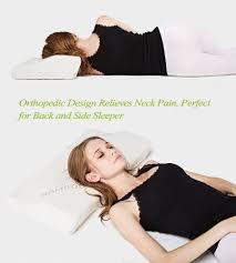 Best Mattress For Side Sleeper Amazon Com Soft Memory Foam Bamboo Sleeping Pillow 24 4