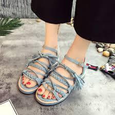 women sandals soft sole flat eva gladiator shoes beige black