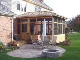 Backyards Ideas Patios by Wonderful Screened In Porch And Deck Idea 32 Porch Decking And