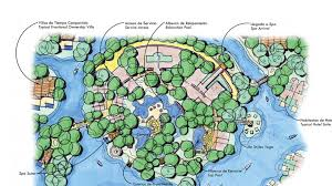 Mexico Resorts Map by Rosewood Mayakoba Edsa