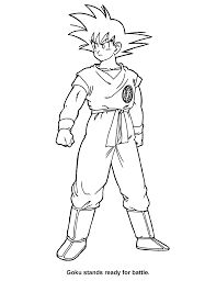 goku coloring pages coloring pages