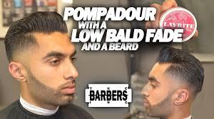 arabic men haircut how to pompadour w low taper bald fade beard men s haircut