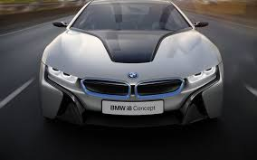 Bmw I8 Silver - side view of silver bmw i8 with the doors open the i8 images