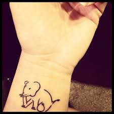 21 best elephant wrist tattoo images on pinterest board drawing