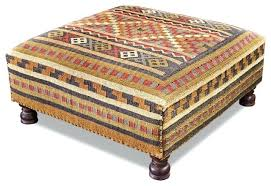 Trunk Ottoman Kilim Coffee Table Plains Southwestern Rustic Square Coffee Table