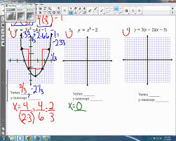graphing answer key for quadratics review unit 5 youtube