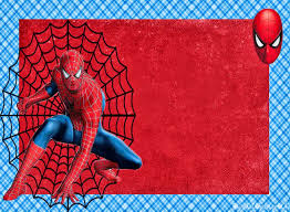 spiderman free printable invitations cards photo frames