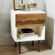 Reclaimed Wood Side Table Reclaimed Wood Lacquer Bedside Table Ideas For The House
