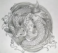 koi fish designs cross tattoos