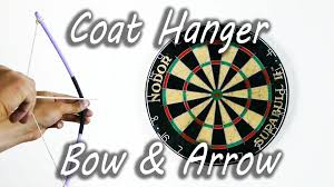 how to make a coat hanger bow and arrow youtube