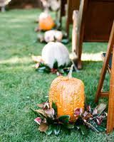 Fall Wedding Aisle Decorations - 33 pumpkin ideas for fall weddings martha stewart weddings