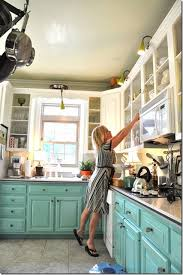 two toned kitchen teal bottom cabinets my 1st house had an aqua