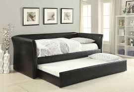 furniture leather trundle day bed for elegant living room decor