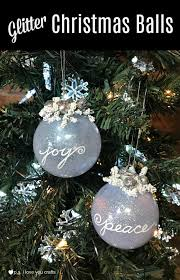 glitter tree ornaments p s i you crafts