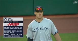 Aaron Judge Made His Mlb Debut In Center Field - aaron judge hit back to back monster homers to center in bp and