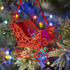 Wilkinsons Blue Christmas Decorations by Wilko Nordic Country Metal Sleigh Christmas Decoration Red At