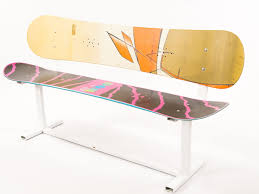 Snowboard Bench Legs Hand Crafted Custom Built Modern Style Snowboard Bench By Against