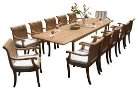 Teak Dining Room Furniture 13 Piece Outdoor Teak Dining Set 117