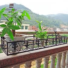 qian yi hui bold flower wood railing fence wrought iron balcony