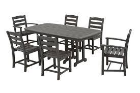 polywood la casa cafe 7 piece dining set u0026 reviews wayfair