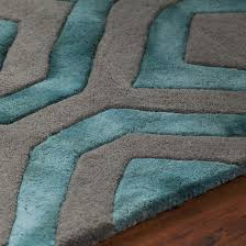 Teal And Gray Area Rug by 425 79 Fran Hand Tufted Area Rug Teal U0026 Grey Area Rugs Usa Shop