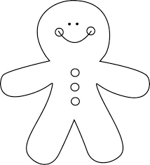 gingerbread cookie black and white cliparts cliparts suggest