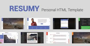 resumy personal html template by enemaster themeforest