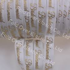 ribbon with words aliexpress buy 5 8 gold foil bridesmaid fold elastic