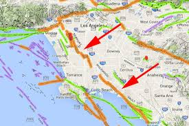 Csudh Map Geologist West La Fault Line Might Slice All The Way Down To The
