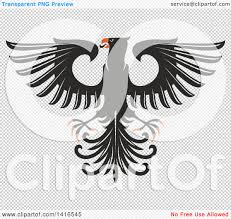 oranges clipart black and white clipart of a black white and orange heraldic eagle royalty free