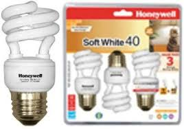 honeywell hs09cl3 indoor cfl 40 watt soft white bulb three 3