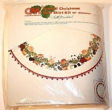 tree skirt crewel embroidery kits ebay