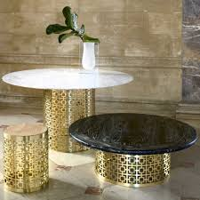 Martini Side Table by Nixon Marble And Brass Cocktail Table Modern Furniture
