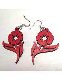green tree earrings green tree earrings wood flower cargo trading co