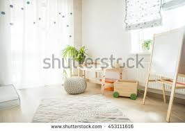 table for children s room kindergarten room easel chair table painting stock photo royalty